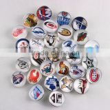 Wholesale Ginger Snap Button 18mm Glass NHL Snap Button Jewelry