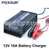 Free shipping wholesale original 12V 10A 7-stage smart Lead Acid Battery Charger, Car battery charger, pulse charge