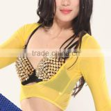 SWEGAl SGBDB13050 8color yellow sexy charming green popular belly dance tops