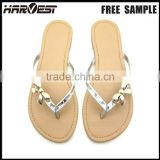 Fashion pvc flip flop sandals with strap for slide charms , flip top flip top ladies sandal