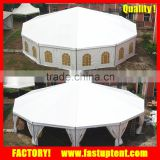 PVC canvas octagon frame dome gazebo tent for event party marquee wedding                                                                         Quality Choice