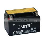 supplier wholesale high quality 12v 7ah motorcycle battery