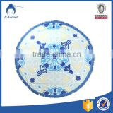 Hot selling outdoor digital printing 100% cotton printed round beach towel with tassels                                                                                                         Supplier's Choice