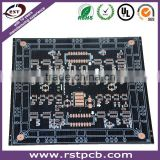 black solder mask print circuit board with usb hub