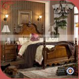 Classical wooden hand carving bedroom furniture, black color, king size bed, night stand, dresser, mirror, wardrobe A49