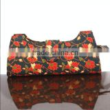 RTVC-002 Canvas Flowers Printed vintage Hand Clutch For Women