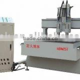 Two-heads CNC Wood carving machine(For wood,acrylic,relief,stone,organic galss,double-color board,copper,aluminum,)