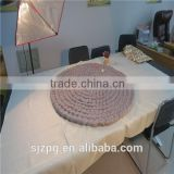 Round shape super chunky knitted Merino wool rug                                                                                                         Supplier's Choice