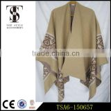 oversized heavyweight acrylic scarf latest design cape shawl jacquard weave winter laides scarves