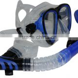 China manufacture direct supply scuba snorkeling gear diving mask full dry snorkel water sports equipment