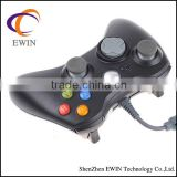 Wired shock Video Game joypad controller for Microsoft xbox 360 -black