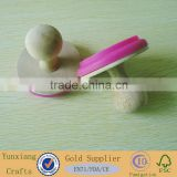 Rubber Wood Handle Stamps, Wooden Toy Stamps