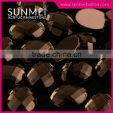 Fancy Oval Shape Turtle Face Plastic Bead Bulk For Lady Shoes