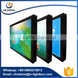 CE SASO approved light box wall hanging rotating outdoor advertising display light box with strong aluminum frame