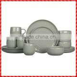 New design grey handmade glazed terracotta dinner sets manufacturers