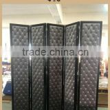Hotel , bar , salon , office , home furniture wood frame fabric folding screen