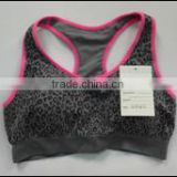 2015 seamless hot girl sexy women racer back sports bra for whole