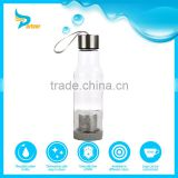 bpa free clear fashion cheap popular outdoor camping plastic water bottle with tea filter