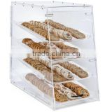 Acrylic Food Display stand Case for Bakery,Trays, Knock Down Design