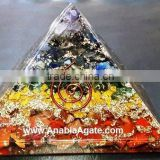 Orgone Chakra Layer Pyramid : Wholesale Orgone Pyramid From India : Orgonite Pyramid For Sell