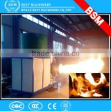 BSM hot supply biomass coconut shell burner with electric control panel of PLC for rotary dryer