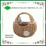 Quality wicker woven egg collection basket