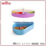 Kiwi fruit plastic trays, colorful plastic serving tray with compartments, wholesale dried fruit dish