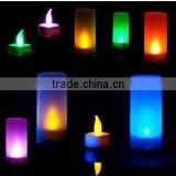 LED candle light for importers colorful led sensor electronic candle light for romatic night and festival