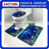 3pcs Bath Rug toliet seat/bath mat /toilet seat cover/hot sale