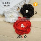 Traditional elegant and noble chic burn pearl satin flowers