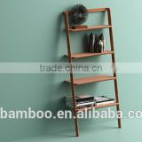 Modern style of 100% Solid Bamboo Currant Leaning Shelf