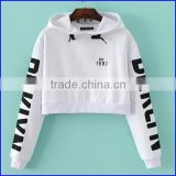 Autumn Fashion Design Wholesale 100% Cotton new design girl sweater Women Crop Hoodies with garment factory in china