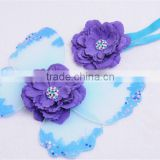 2016hot selling lovely baby decorative butterfly wings & headband baby photography props