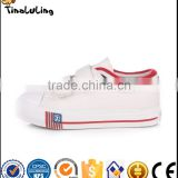 New arrival high quality wholesale hook&loop canvas baby boy shoes for kids