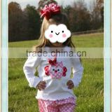 valentine polka dot owl sets boutique girl clothing conice kids outfits cheap baby girl clothes sets