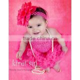 Girls Hot Pink Crochet Tube Top Photo Prop 12M-3 Years