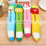 2010 Wholesale custom cute plush pencil case pouch for girl