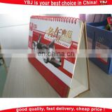 2016 custom table calendar and desk calendar printing factory wholesale calendar printing