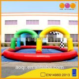 AOQI commercial use inflatable race track sports game for sale