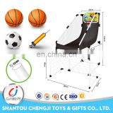 Sport toys 2 in 1 plastic basketball hoop portable for kids