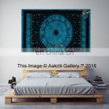 Turquoise Astro Twin Size Tapestry Indian Bedding Spread New Aakriti Gallery