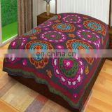 uzani bed cover Bedspread Cotton Bed Sheet Wall Hanging Throw Double Size Throw