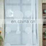embroidery organza shower curtain 100% COTTON CLOTH