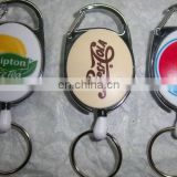Hot Sale ID Plastic Retractable Badge Holder pull reel With Alligator Clip