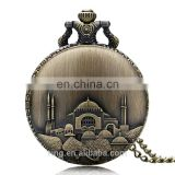 Castle pocket watch chain necklace vintage erotic pocket watches wholesale