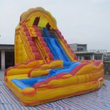 Inflatable slip and slide inflatable water slide axs-06
