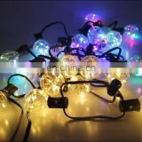 G40 LED solar string light warmwhite 4 light modes for outdoor decoration