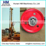 Sheave, Rope Roller, Main Winch Rope Center Guide Big Pulley For Bauer Drilling Rigs BG28 BG40 BG25 BG36