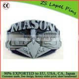 Custom quality fashion gift 3d metal belt buckle