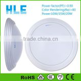 110V 240V Polycarbonate Round 10W 15W 20W 25W Microwave Sensor surface mounted aluminum ceiling led lamp